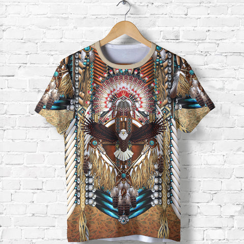 Native American T-Shirt - Mandala 2nd - Black - Front - For Men and Women