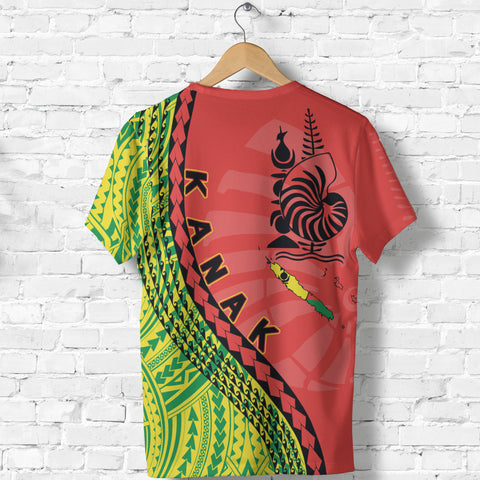 New Caledonia T Shirt - New Caledonia T Shirt with Generation IV - Red Mix - Back - For Men and Women