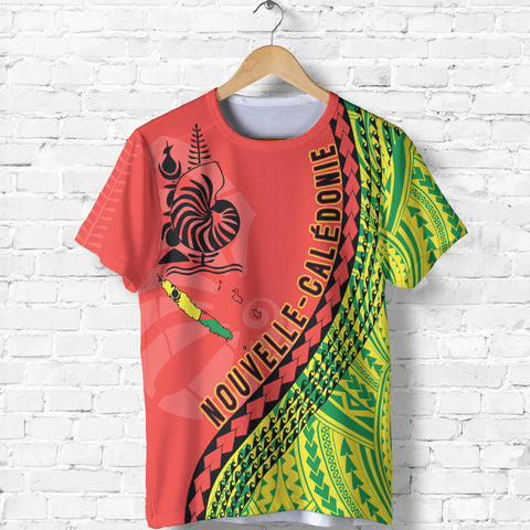 New Caledonia T Shirt - New Caledonia T Shirt with Generation IV - Red Mix - Front - For Men and Women