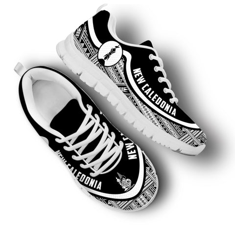 New Caledonia Wave Sneakers - Black White | 1sttheworld.com