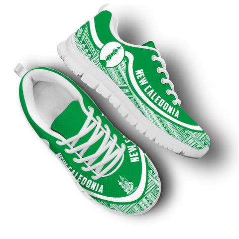 New Caledonia Wave Sneakers - White Green | 1sttheworld.com