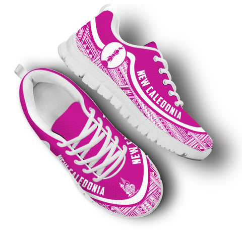 New Caledonia Wave Sneakers - White Pink | 1sttheworld.com