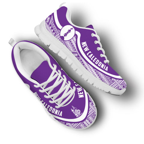 New Caledonia Wave Sneakers - White Purple | 1sttheworld.com