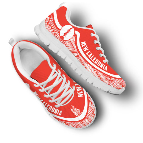 New Caledonia Wave Sneakers - White Red | 1sttheworld.com