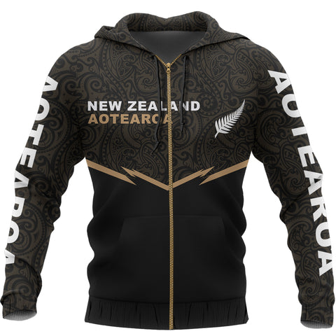 New Zealand Maori Zipper Hoodie - Energy Style Ver 2.0