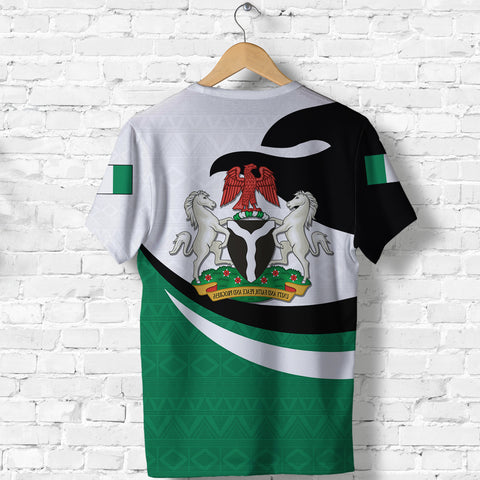 Nigeria T-shirt Proud Version Back | 1sttheworld