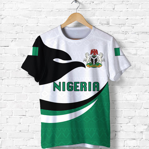 Nigeria T-shirt Proud Version Front | 1sttheworld