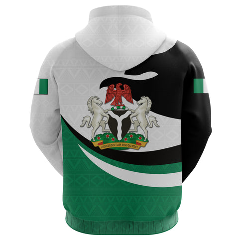 Nigeria Hoodie Zip Proud Version Back | 1sttheworld