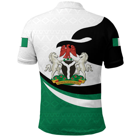 Nigeria Polo Shirt Proud Version Back | 1sttheworld