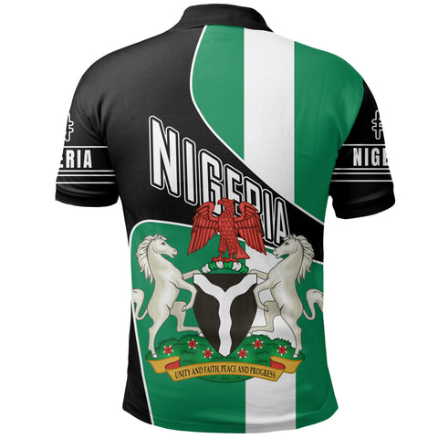 Nigeria Polo Shirt, Nigeria Naira Golf Shirts K5