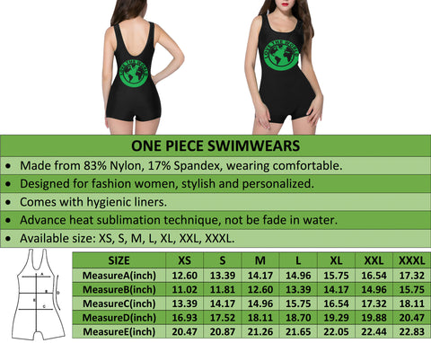 New Zealand Fern One Piece Swimwear A9