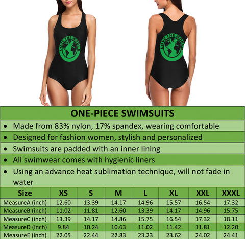 New Zealand Fern One Piece Swimsuit A9