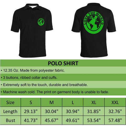 Fiji Map Polo Black Style 03 A5