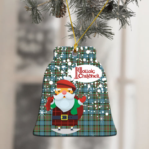 Paisley District Tartan Christmas Ornament - Nollaig Chridheil Scottish Santa A7