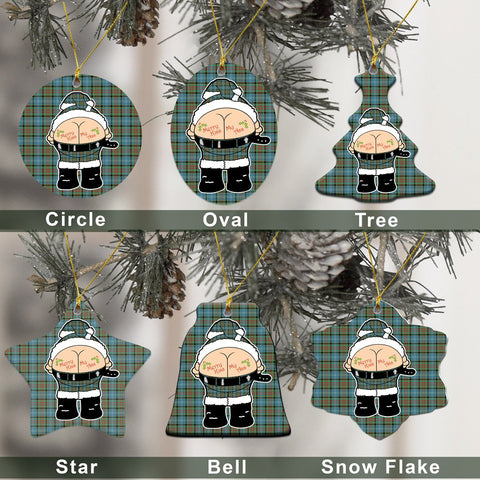 Paisley District Tartan Christmas Decor - Ross Ceramic Ornament - Funny Style A7