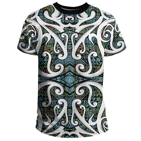 Tartan Paisley District T-Shirt - Maori With Tartan A777