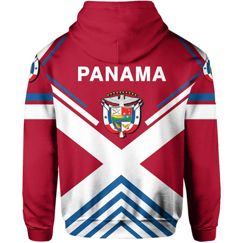 Panama Flag Hoodie Zip - America Nations - Unique Design by J6