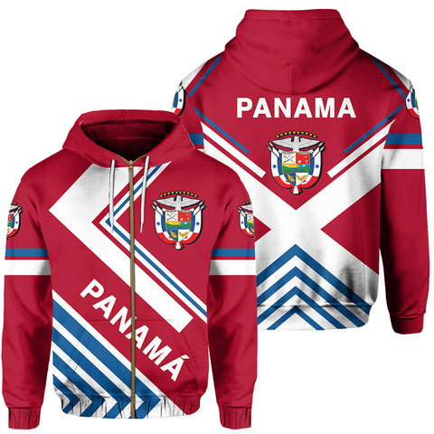 Panama Flag Hoodie Zip - America Nations