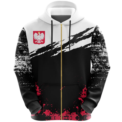 Poland Zip Hoodie Customized K5