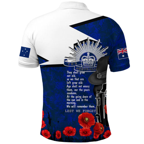 Image of Australia Polo Shirt Anzac Lest We Forget A7