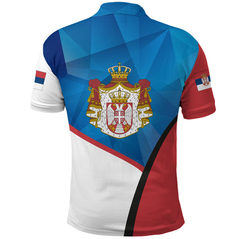 Serbia Polo Shirt White Eagle Version K12