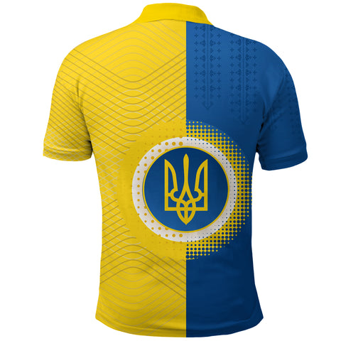 Ukraine Polo Shirt Special Coat Of Arms Back | 1sttheworld