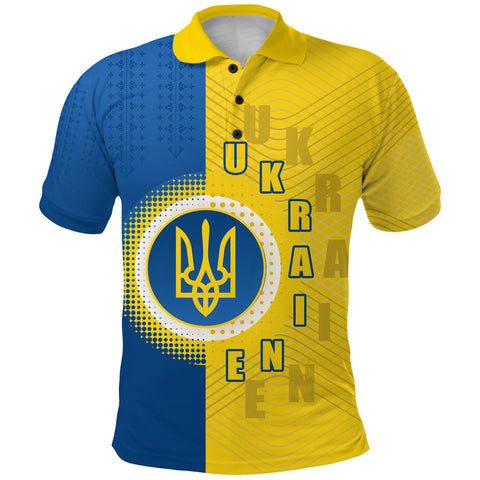 Ukraine Polo Shirt Special Coat Of Arms Front | 1sttheworld