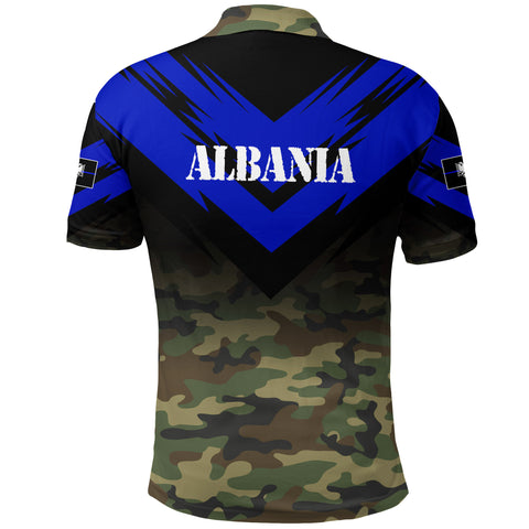 Albania Flag Polo Shirt- Based Version Of The Thin Blue Line Symbol A25