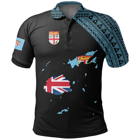 Fiji Map Polo Black Style | Men & Women | High Quality