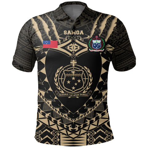 Samoan Tattoo Rugby Polo Shirt K5
