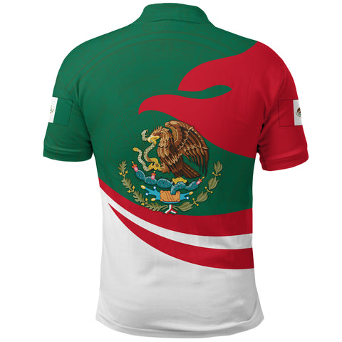 Mexico Polo Shirt Proud Version Back | 1sttheworld