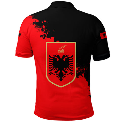 Albania Polo Shirt Red Braved Version K12