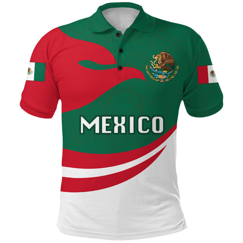 Image of Mexico Polo Shirt Proud Version Front | 1sttheworld