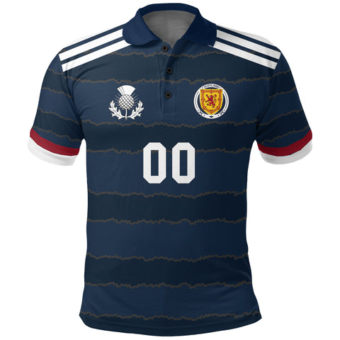 Image of (Custom) Scotland Sport Polo Shirt Soccer A27