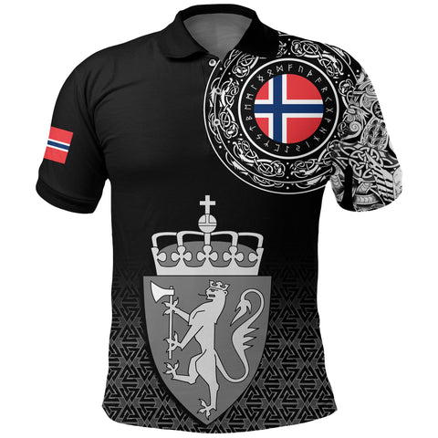Viking Style Polo Shirt - Norway Coat Of Arms A31