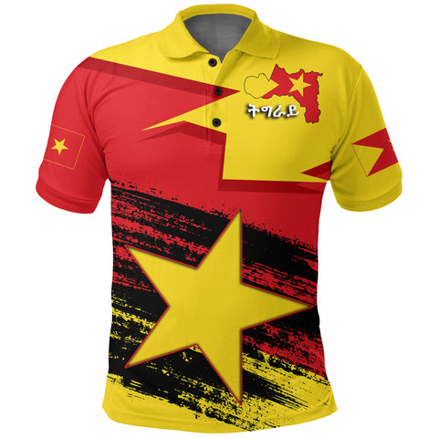 Tigray Flag And Map Special Polo Shirt A27