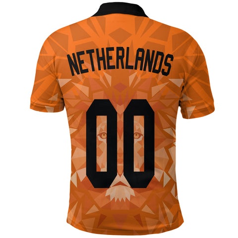 Image of (Custom) Netherlands Lion Polo Shirt Euro Soccer A27