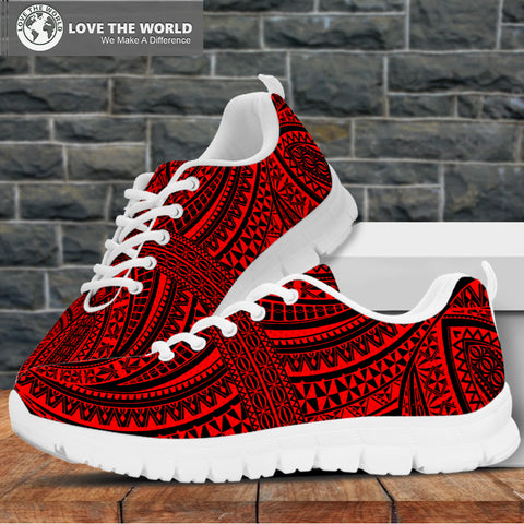 Polynesian Sneakers Red