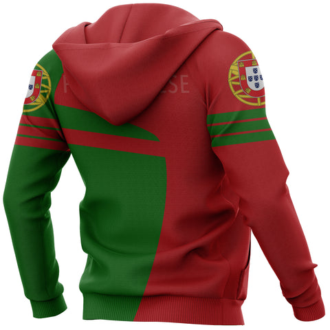 Image of Portugal Sport Zip-Up Hoodie - Premium Style J1