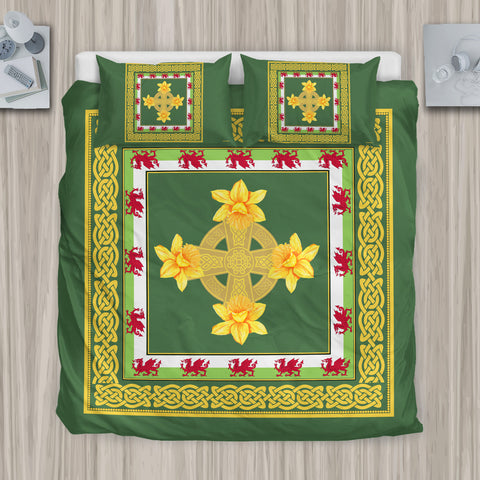 Welsh Celtic With Daffodil'Ñ¢ Bedding Set by 1sttheworld for Men and Women