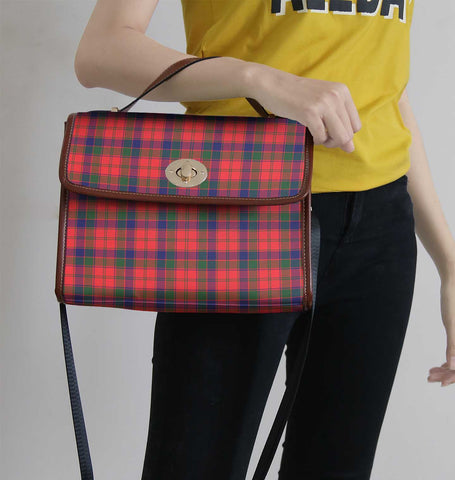 Image of Robertson Modern Tartan Canvas Bag | Waterproof Bag | Scottish Bag
