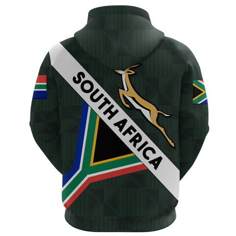 South Africa Zip Hoodie Springbok Miss Style back | Clothing