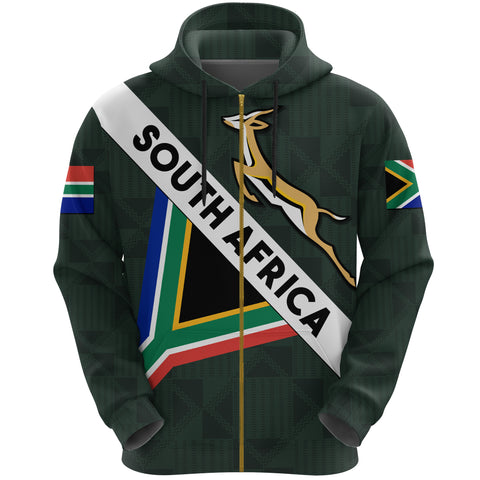 South Africa Zip Hoodie Springbok Miss Style | Clothing