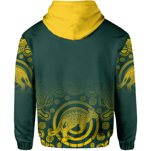 Australia Hoodie Coat Of Arms - Rugby Style TH05