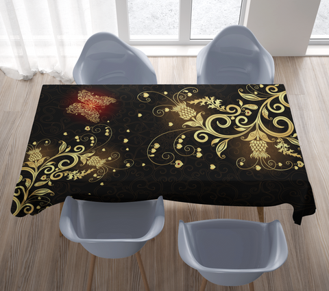 Scotland Tablecloth Scottish Golden Thistle | Special Custom Design