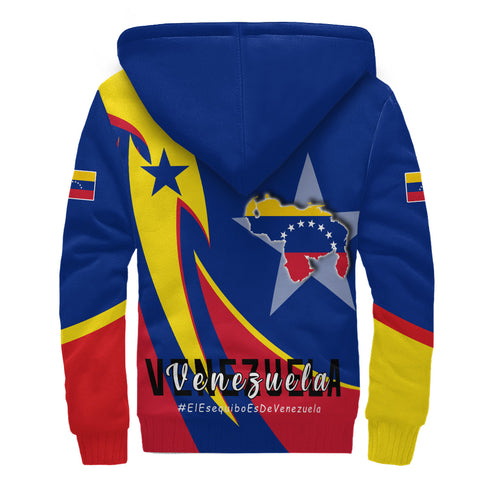 1stTheWorld Sherpa Hoodie - Venezuela In My Heart A30