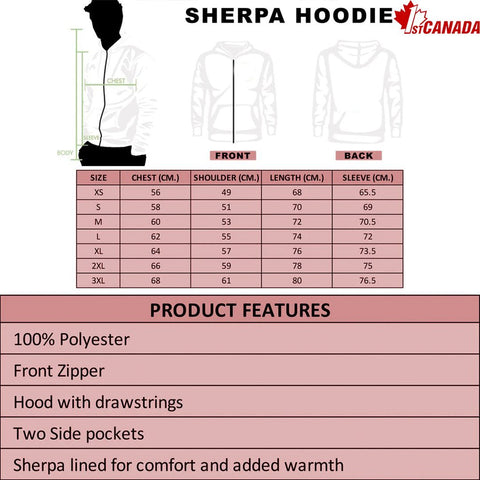 Image of 1stCanada Special Vintage Art Sherpa Hoodie A7