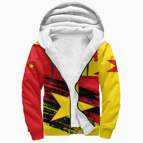 Tigray Flag And Map Special Sherpa Hoodie A27
