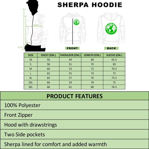Hawaii Turtle Hoodie, Polynesian Tattoo Coat Of Arms Sherpa Hoodie A7