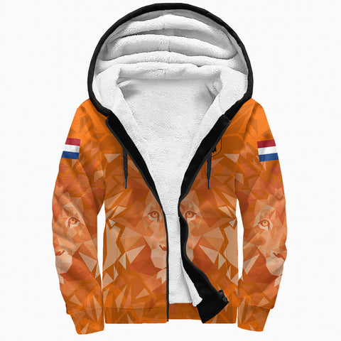 (Custom) Netherlands Lion Sherpa Hoodie Euro Soccer A27